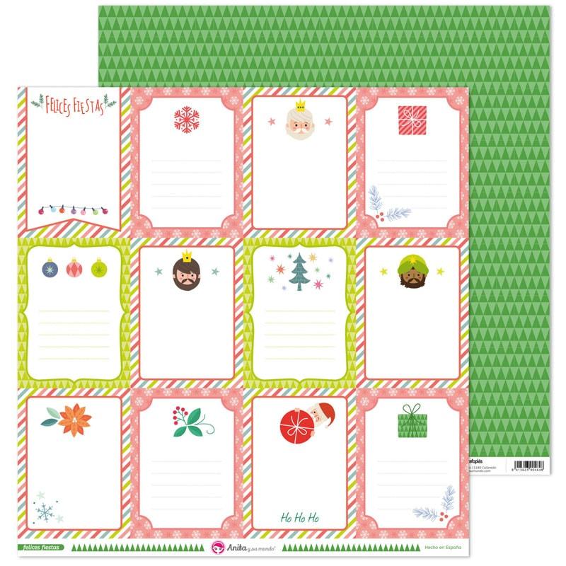 37011448 coleccion scrapbooking FELICES FIESTAS tarjetas papel navidad