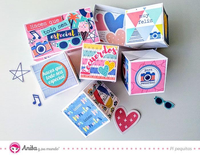 como hacer una caja pop up con papeles bonitos