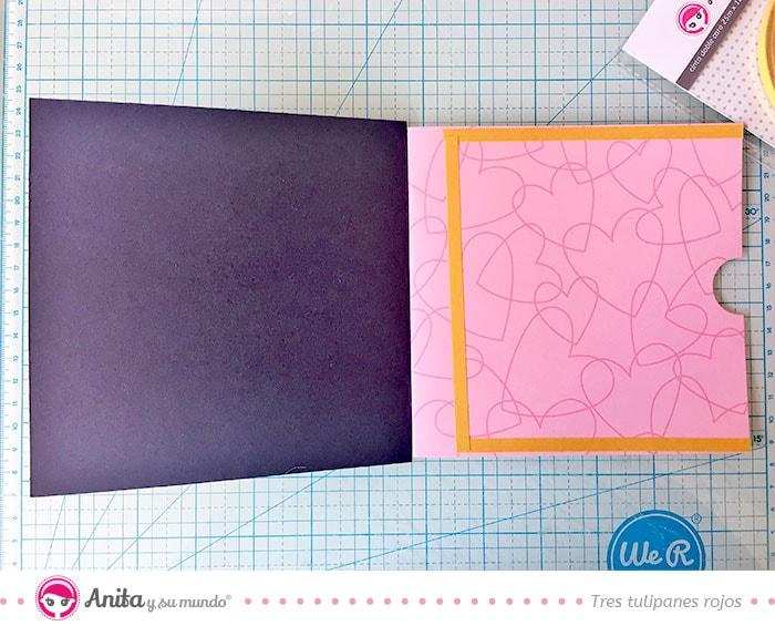 como hacer bolsillos con papel bonito