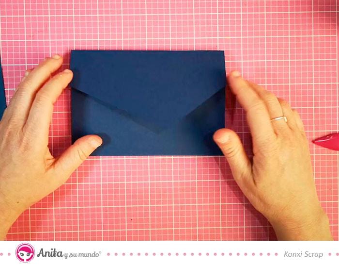 como hacer un sobre de cartulina