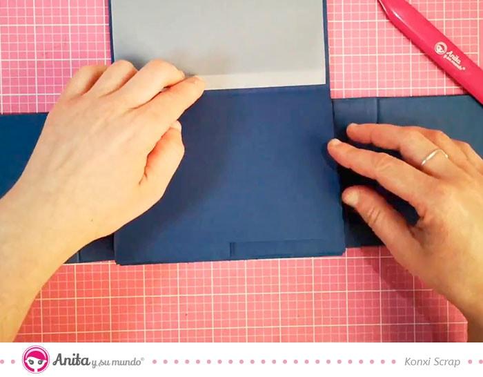 como usar papel vellum en scrapbooking
