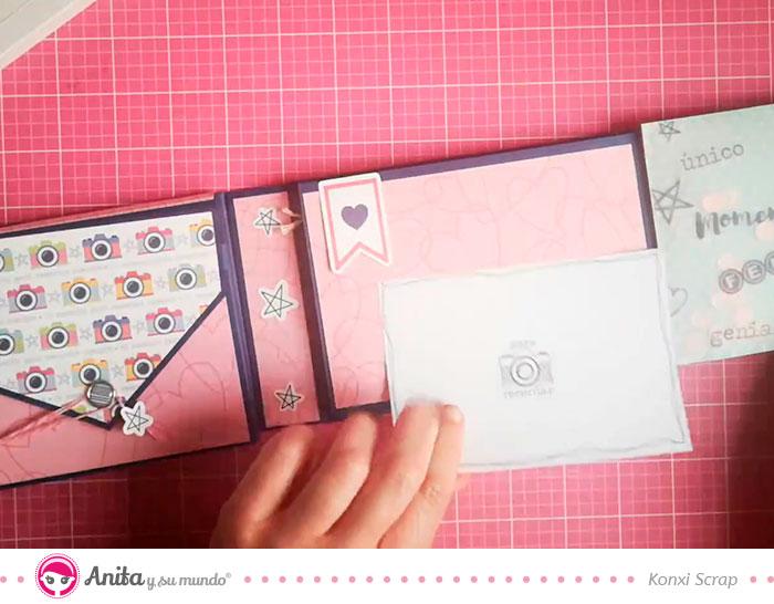 como decorar albumes bonitos de papel