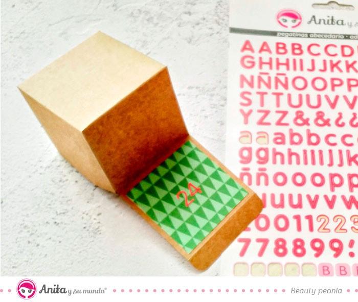 abecedarios pegatina rojo de anita y su mundo