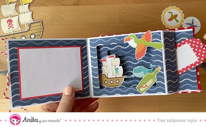 ejemplo album scrap papel